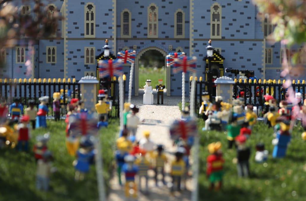 Lego builds miniature Windsor castle to celebrate royal