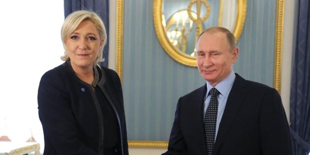 Marine Le Pen reçue par Vladimir Poutine
