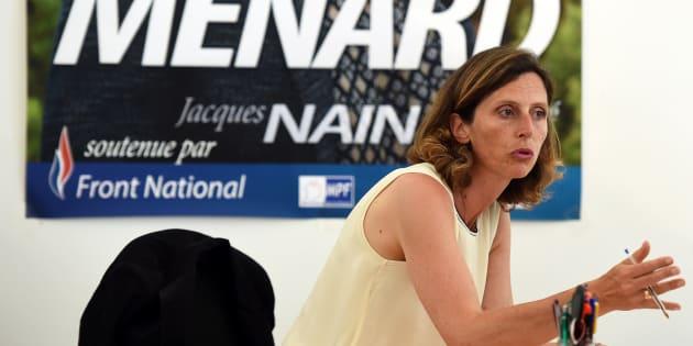 Emmanuelle Menard, élue députée dans la 6e circonscription de l'Hérault.