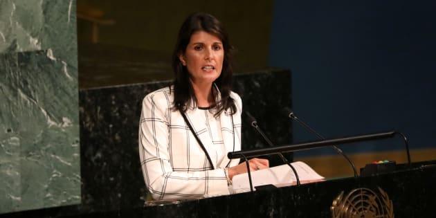 Photo d'archives de Nikki Haley, l'ambassadrice des États-Unis à l'ONU.