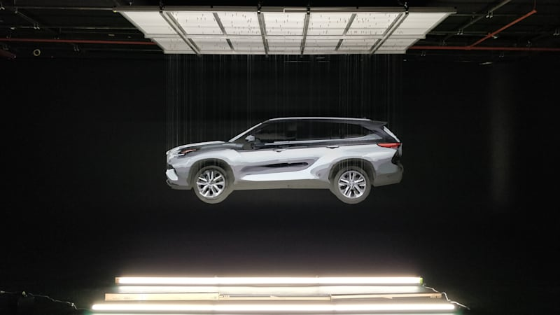 2020 Toyota Highlander teased with 3D art exhibition ahead of NYIAS