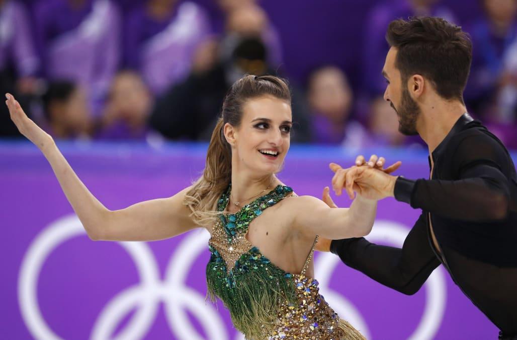 French Ice Dancer Powers Through Nightmare Wardrobe