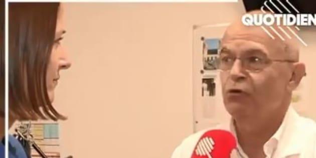 """Bertrand De Rochambeau face à la journaliste Valentine Oberti dans """"Quotidien"""" le 11 septembre 2018."""