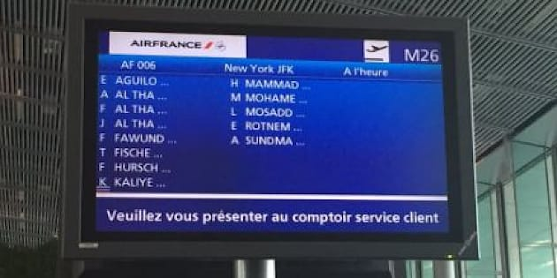 Air France nous l'affirme, cette photo ultra partagée n'a rien à voir avec le décret anti-immigration de Trump