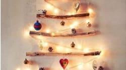 Huit idées pour faire un sapin de Noël sans acheter un vrai