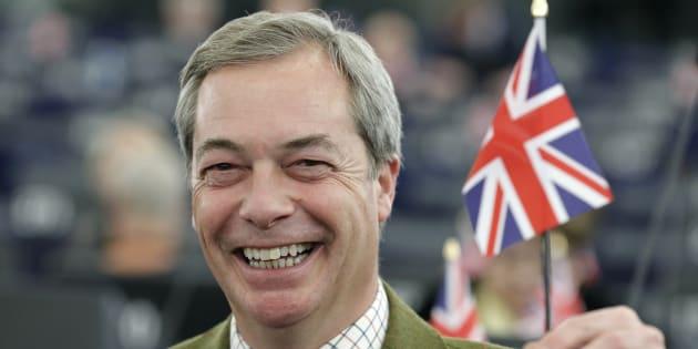 Nigel Farage, leader de l'UKIP le 16 janvier 2017 au parlement européen de Strasbourg. REUTERS/Christian Hartmann