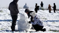 Il neige à Rome et les Romains