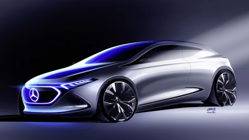 Mercedes Teases Concept Eq A Electric Car Again Autoblog