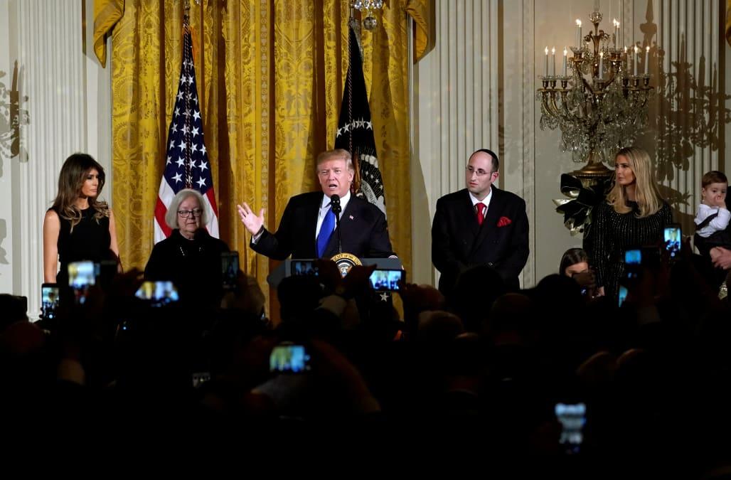 Image result for trump white house hanukkah
