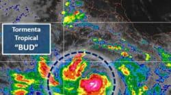 Tormenta tropical Bud se ubica en costas de Guerrero, Michoacán y