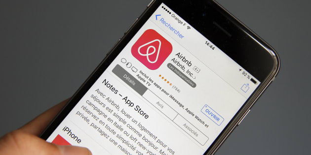 The Airbnb company logo is displayed on the screen of an Apple iPhone 6 on September 08, 2017 in Paris, France. The head of the Canada Mortgage and Housing Corp. says he believes short-term rental companies like Airbnb and Vacation Rental By Owner could help increase rental supply in the country and, in turn, possibly reducerents.