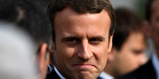 Emmanuel Macron à la cérémonie en hommage à Jacques Hamel.