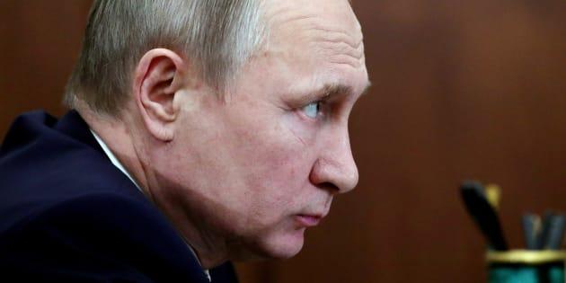 El presidente de Rusia, Vladimir Putin, en Moscú.