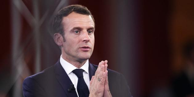 Emmanuel Macron à Epinal mardi 17 avril.