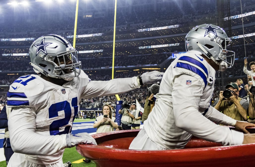 3dae815b0f2 On Thanksgiving, Ezekiel Elliott dropped $21 and Dak Prescott into a giant  Salvation Army kettle during a win over the Washington Redskins.