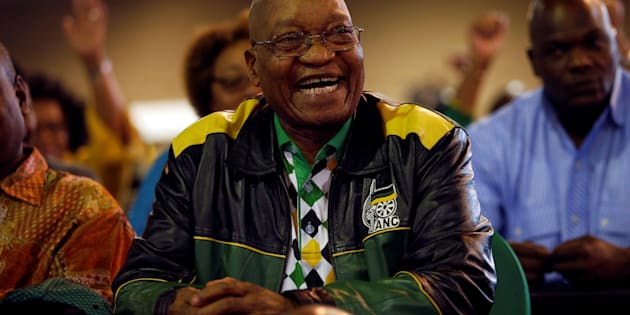 President Zuma reacts during the closing address at the ANC's 54th national conference. December 21, 2017.