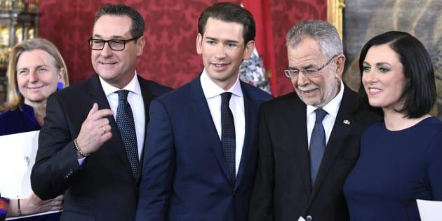 """Résultat de recherche d'images pour """"Autriche : le nouveau gouvernement de droite et d'extrême droite a prêté serment"""""""