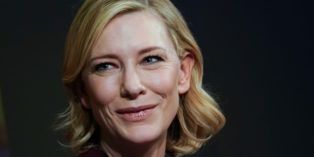 Cate Blanchett au Forum de l'économie mondiale à Davos, en Suisse le 23 janvier 2018.