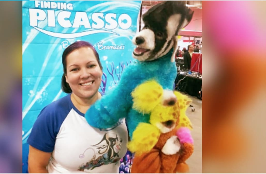 Woman leaves her career in sales to become a competitive dog groomer