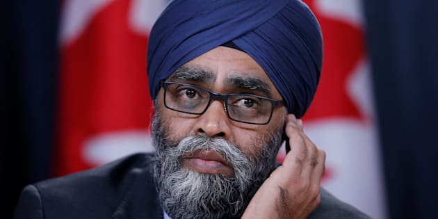 Defence Minister Harjit Sajjan takes part in a news conference in Ottawa on Dec. 12, 2017.