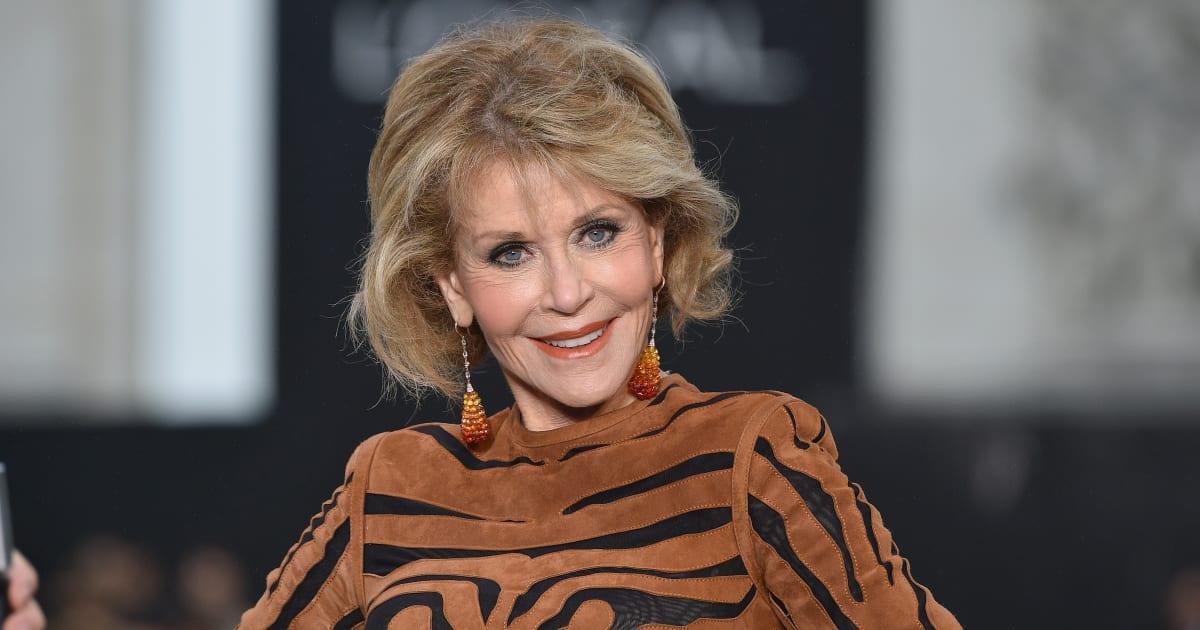 Jane Fonda Makes Her Runway Debut At Paris Fashion Week