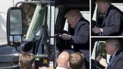 Ces photos de Trump qui fait mumuse dans un gros camion valent le