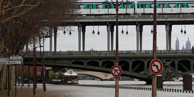 La crue de la Seine cette semaine.