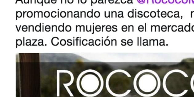 criticas a una discoteca de madrid por cosificar a las mujeres en su publicidad