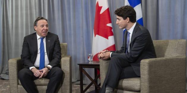 François Legault a profité de sa rencontre avec Justin Trudeau pour le presser d'agir dans plusieurs dossiers liés au Québec.