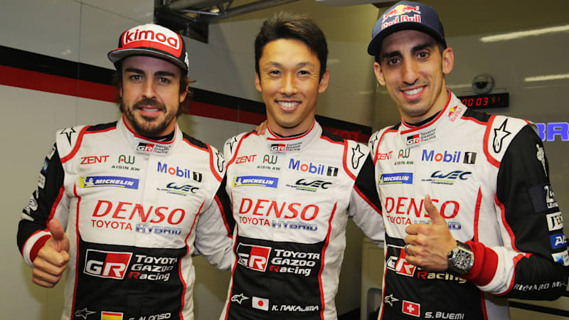 Alonso's Toyota is on pole for Le Mans 24 Hours
