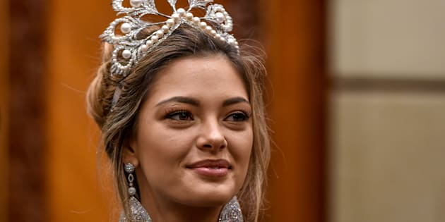 Miss Universe, Demi-Leigh Nel-Peters of South Africa.