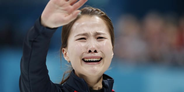 試合終了後に泣いた韓国チーム主将のキム・ウンジョン選手