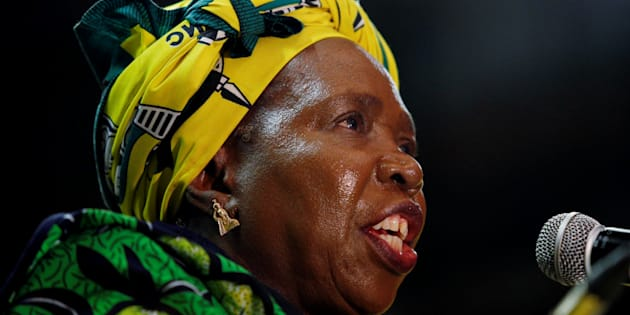 Former African Union chairperson Nkosazana Dlamini-Zuma speaks during a lecture to members of the African National Congress Youth League in Durban, South Africa, April 20, 2017. REUTERS/Rogan Ward
