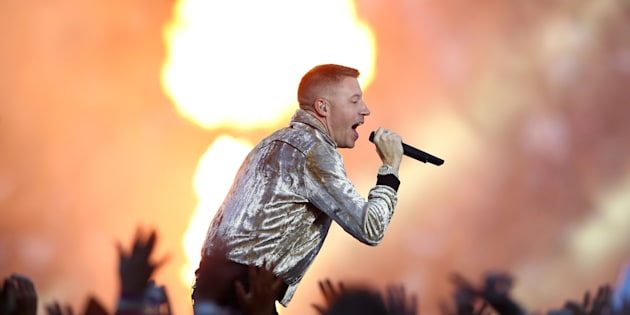 Macklemore was on fire on at the NRL Grandfinal on Sunday night.  (Photo by Mark Kolbe/Getty Images)