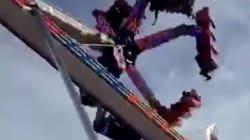 Un vídeo capta este terrible accidente en un parque de atracciones de