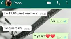 El aplaudido 'hachazo' de un padre a su hija por llegar