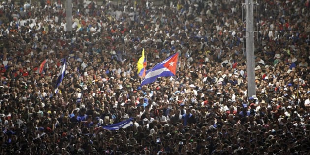 Thousands of people attend a rally honoring the late Cuban leader Fidel Castro at Plaza de la Revolucion on 29 November 2016 in Havana, Cuba. Castro died on November 25 at age 90.