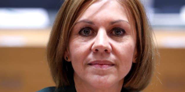 María Dolores de Cospedal, en noviembre del año pasado, durante una reunión de ministros de Defensa en Bruselas.