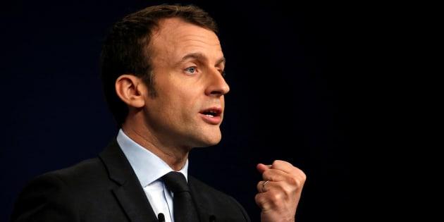 Emmanuel Macron à Reims le 17 mars 2017.