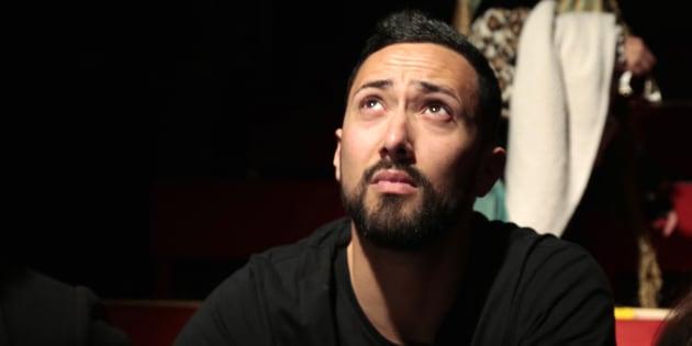 El rapero Valtonyc, durante una conferencia de prensa en Barcelona, el pasado 14 de marzo.