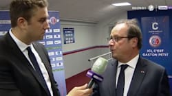 Hollande assiste à un match de Ligue 2 à