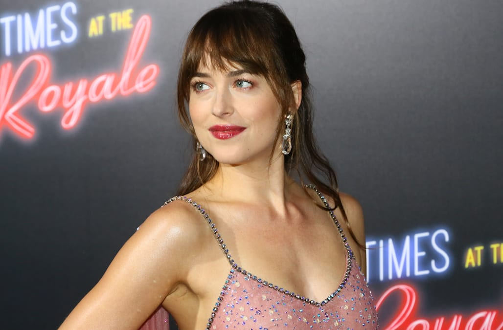 Dakota Johnson Plays Coy About Chris Martin But Admits Shes Very Happy
