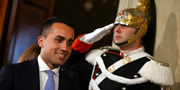 Anti-establishment 5-Star Movement leader Luigi Di Maio leaves after the meeting with the Italian President Sergio Mattarella during the second day of consultations at the Quirinal Palace in Rome, Italy, April 5, 2018.  REUTERS/Alessandro Bianchi