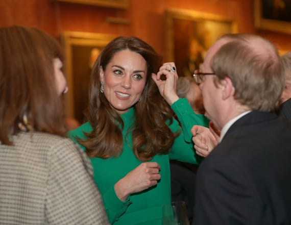 Kate Middleton dazzles in green Emilia Wickstead