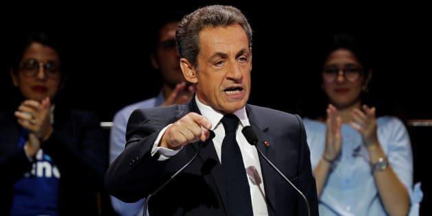 Nicolas Sarkozy le 9 octobre 2016. REUTERS/Philippe Wojazer