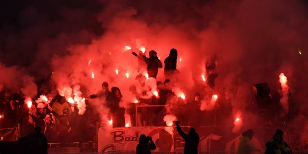 Lyon visé par une enquête disciplinaire après des symboles et saluts nazis dans les tribunes (Photo durant le match Lyon - Marseille, le 17 décembre 2017)