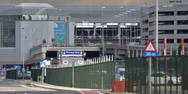 L'aéroport de Bruxelles-Zaventem après les explosions de deux kamikazes le 22 mars 2016.