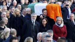 Thousands Line Streets As Northern Ireland Buries Martin