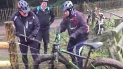 Watch 3 Englishmen Struggle To Free A Bike From An Electric