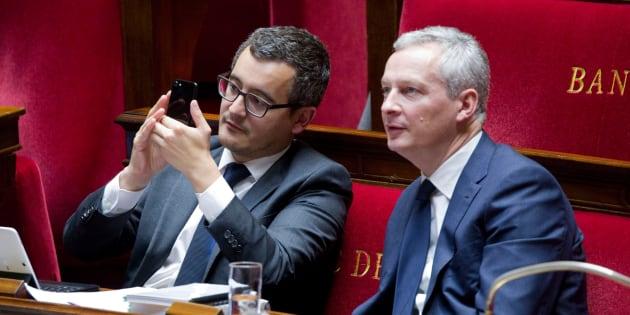 Les deux ministres Gérald Darmanin et Bruno Le Maire défendent un budget 2019 censé doper le pouvoir d'achat des Français, alors que la baisse de la taxe d'habitation est critiquée.
